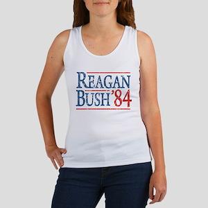 Reagan Bush 84 retro Women's Tank Top