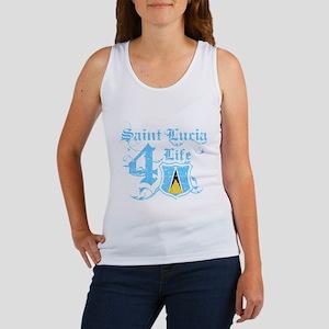 Saint Lucia for life designs Women's Tank Top