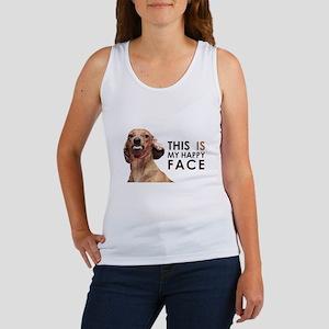 Happy Face Dachshund Women's Tank Top