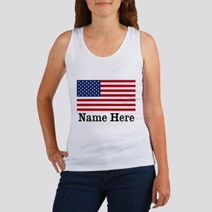 Personalized American Flag Women's Tank Top