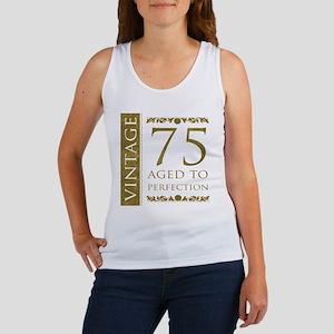 Fancy Vintage 75th Birthday Women's Tank Top