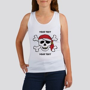 PERSONALIZE Funny Pirate Women's Tank Top