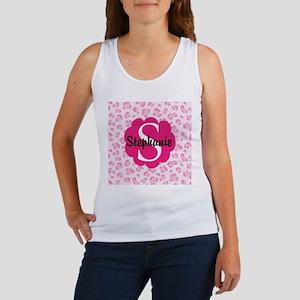 Personalized Pink Name Monogram Gift Tank Top