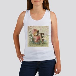 Vintage French Easter bunnies in egg Tank Top