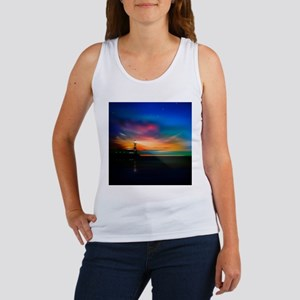 Sunrise Over The Sea And Lighthouse Tank Top
