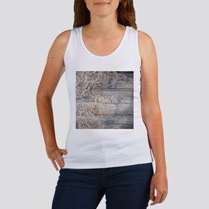 barn wood lace western country Tank Top