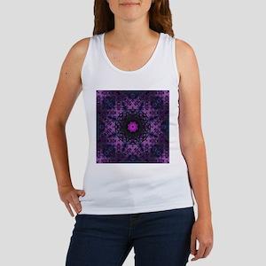 vintage bohemian purple abstract pattern Tank Top
