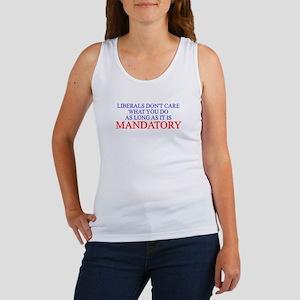 ANTI LIBERAL DEMOCRAT BUMPER Women's Tank Top
