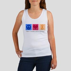 Peace Love Cure MS Women's Tank Top