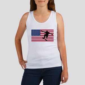 Skateboarding American Flag Tank Top