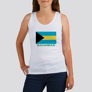 Bahamian Flag (labeled) Women's Tank Top