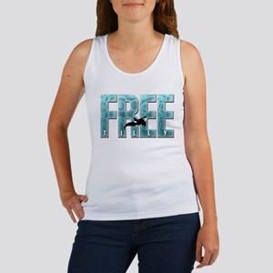 Free Tilly Sea Blue Tank Top