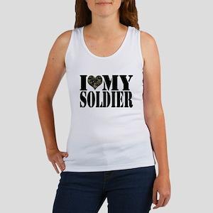 I Love My Soldier Women's Tank Top