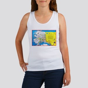 Alaska Map Greetings Women's Tank Top