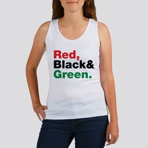 Red, Black and Green. Women's Tank Top