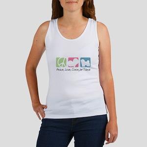 Peace, Love, Coton de Tulear Women's Tank Top