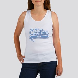 """100% Carolina Girl"" Women's Tank Top"