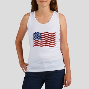 sequin american flag Tank Top