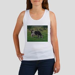 Holstein Milk Cow in Pasture Women's Tank Top