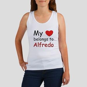 My heart belongs to alfredo Women's Tank Top