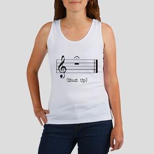 Shut Up (in musical notation) Women's Tank Top