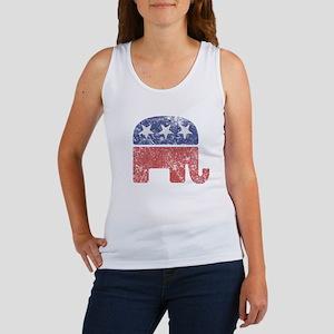 Worn Republican Elephant Women's Tank Top