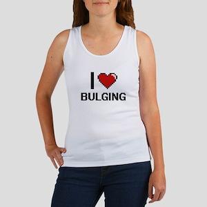 I Love Bulging Digitial Design Tank Top