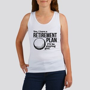 Golf Retirement Plan Tank Top
