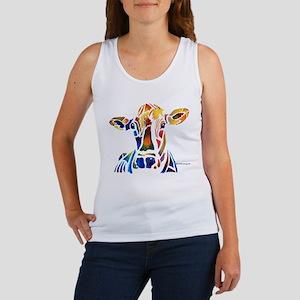 Whimzical Original Cow Art Women's Tank Top