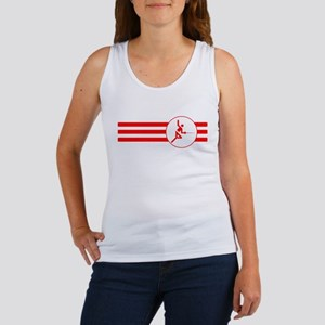 Fencer Stripes (Red) Tank Top