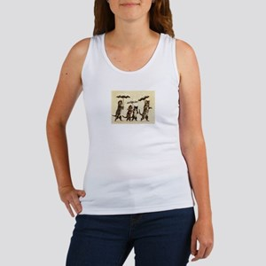 Cats, Vintage Painting Tank Top