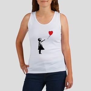 Banksy - Little Girl with Ballon Tank Top