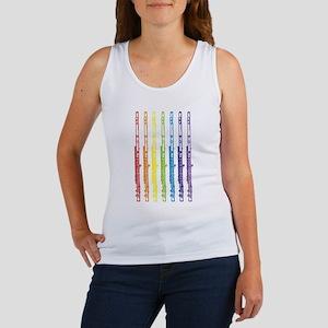Flutes 7 Rainbow Women's Tank Top