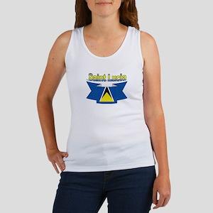 St Lucia Ribbon Women's Tank Top