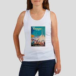 Nassau Bahamas Vintage Travel Poster Tank Top
