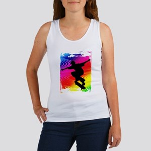Rainbow Grunge Skateboarder Tank Top