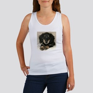 Long Haired Puppy Women's Tank Top