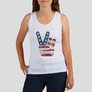 Peace Sign USA Vintage Women's Tank Top
