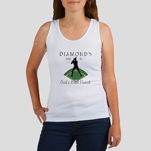 Diamonds - Girl's Best Friend Women's Tank Top