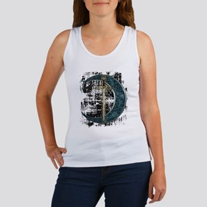 Grunge Celtic Moon and Sword Women's Tank Top