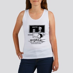 Divide 25 Books Among 34 Students Women's Tank Top