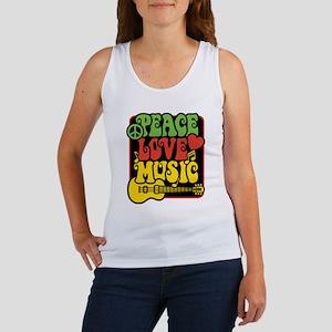 Rasta Peace Love Music Tank Top