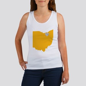Ohio Cleveland Heart Women's Tank Top