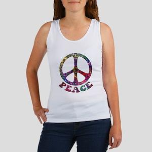 Jewelled Peace Symbol Women's Tank Top