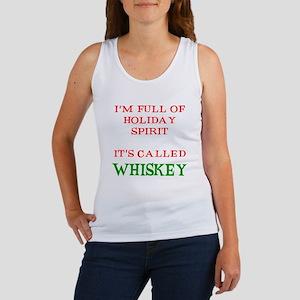 Holiday Spirit Whiskey Women's Tank Top