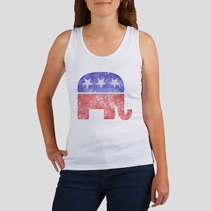 Faded Republican Elephant Tank Top