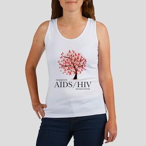 AIDS/HIV Tree Women's Tank Top