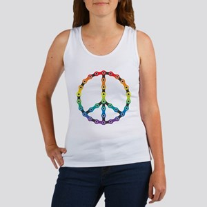 peace chain vivid Women's Tank Top