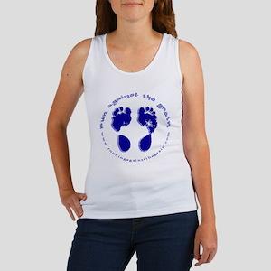 runagainstthegrain_footprint_circ Women's Tank Top