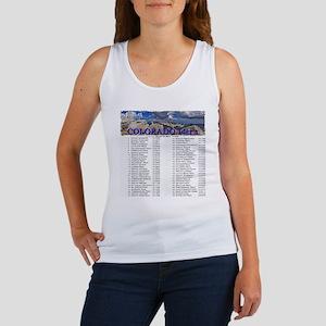 CO 14ers List T-Shirt NO BKGRND Women's Tank Top